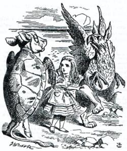 The Mock Turtle, Gryphon and Alice